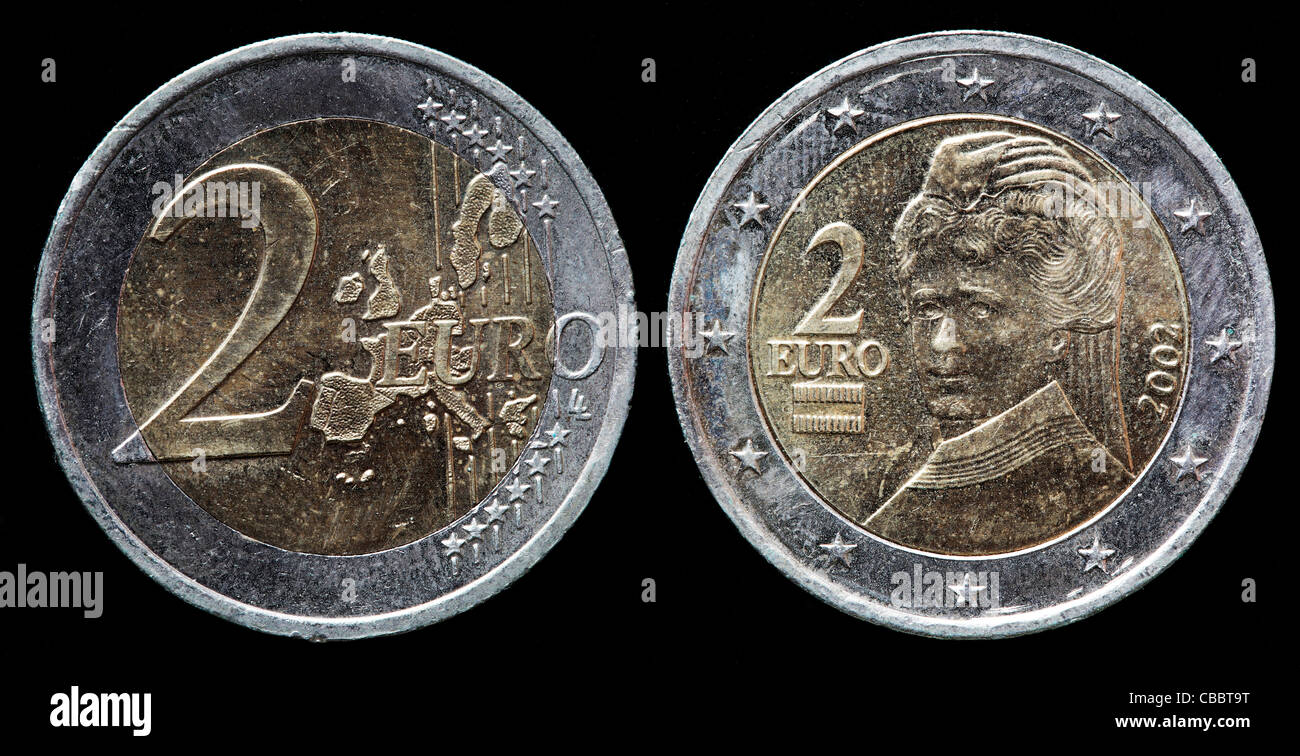 2 Euro Münze österreich 2002 Stockfoto Bild 41442516 Alamy