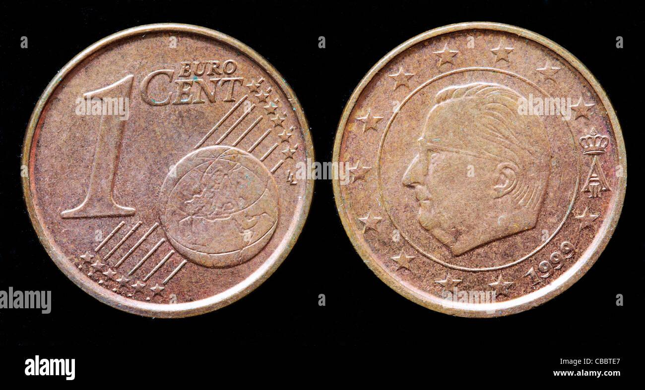 1 Euro Cent Münze Belgien 1999 Stockfoto Bild 41442639 Alamy