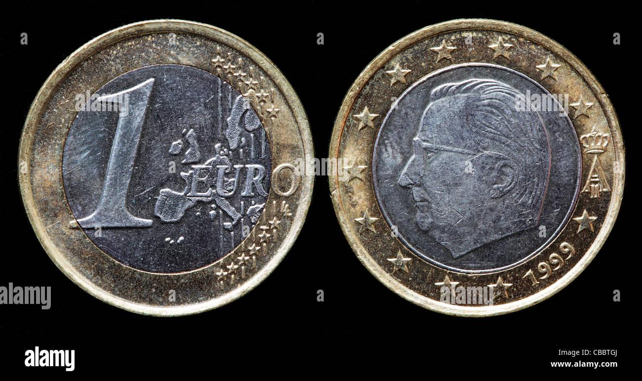1 Euromünze Belgien 1999 Stockfoto Bild 41442706 Alamy