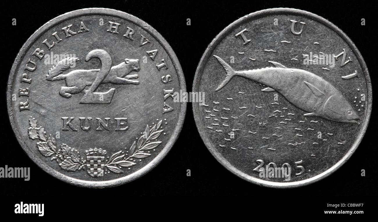 2 Kune Münze Kroatien 2005 Stockfoto Bild 41443451 Alamy