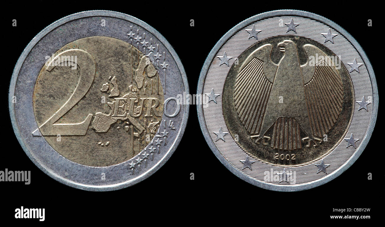 euro coin both sides stockfotos euro coin both sides. Black Bedroom Furniture Sets. Home Design Ideas