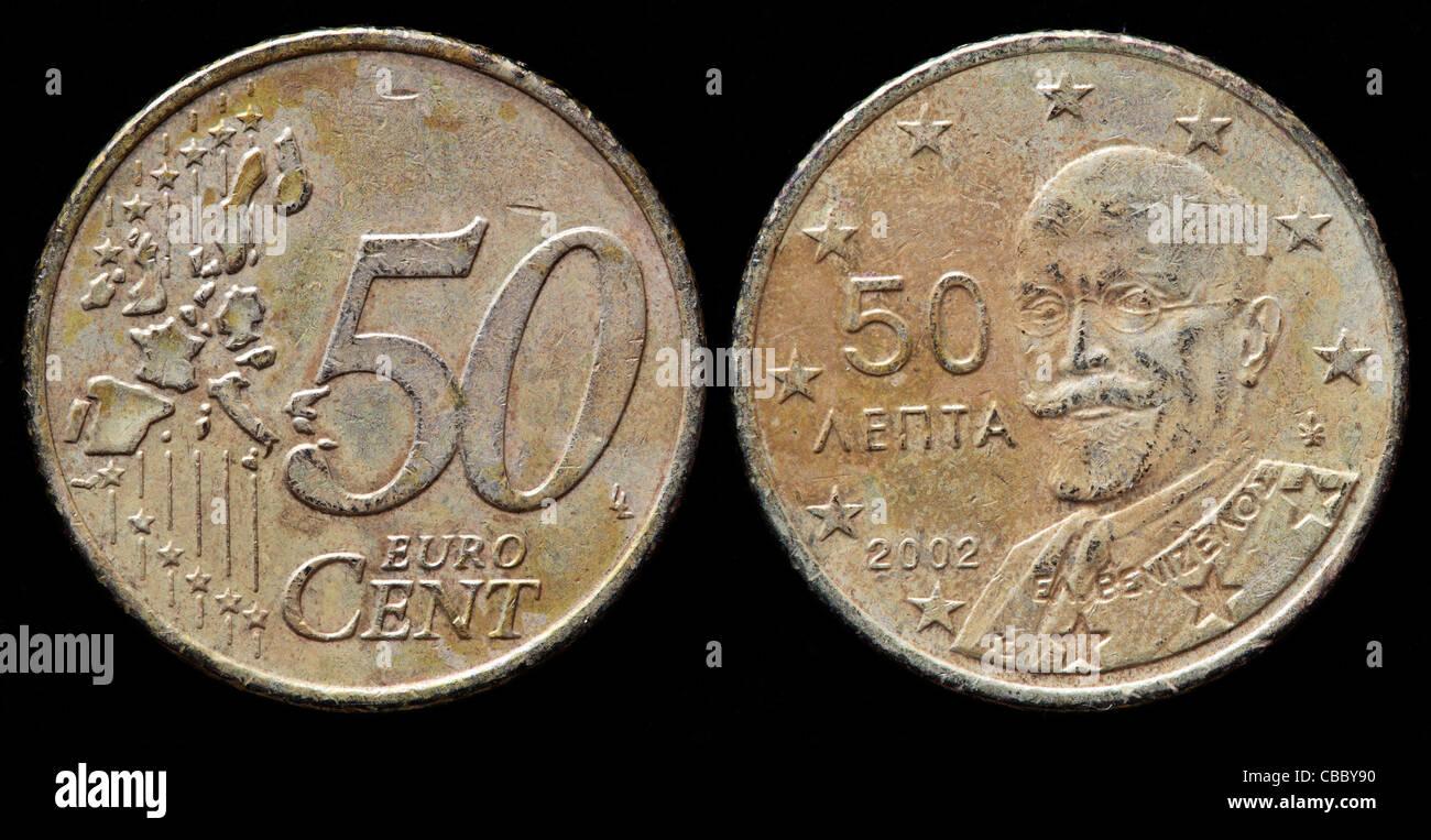 50 Euro Cent Münze Griechenland 2002 Stockfoto Bild 41444844 Alamy