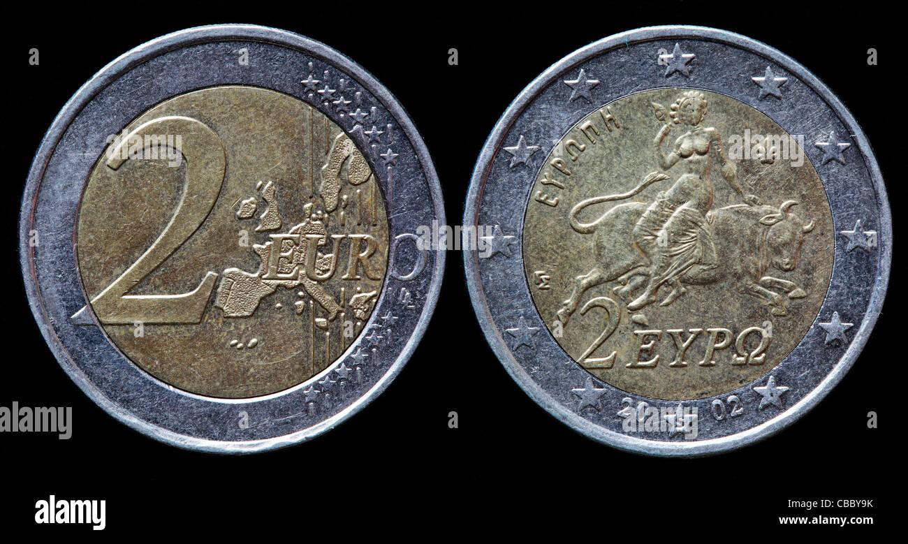 2 Euro Münze Griechenland 2002 Stockfoto Bild 41444863 Alamy