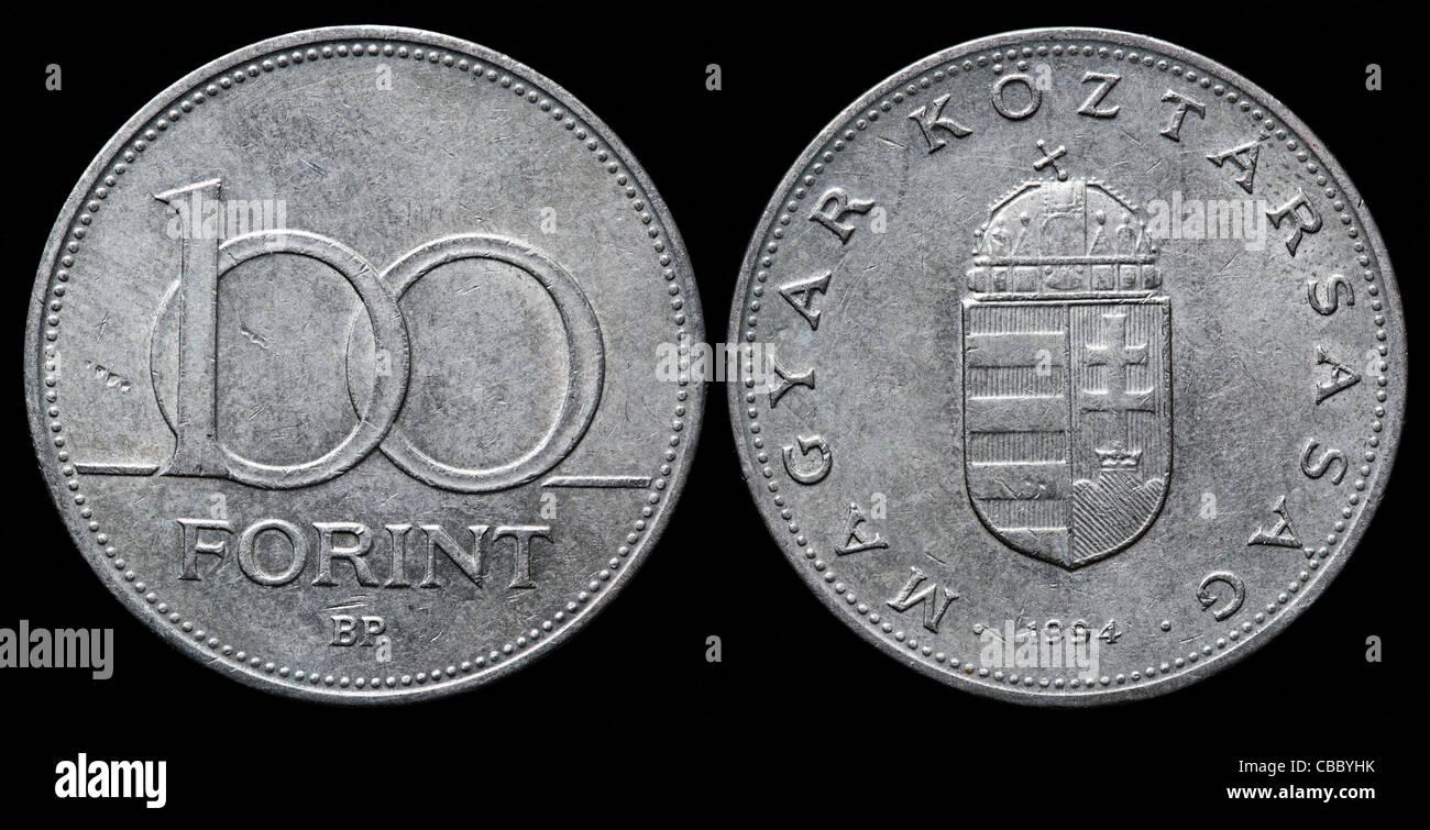 100 Forint Münze Ungarn 1994 Stockfoto Bild 41445087 Alamy