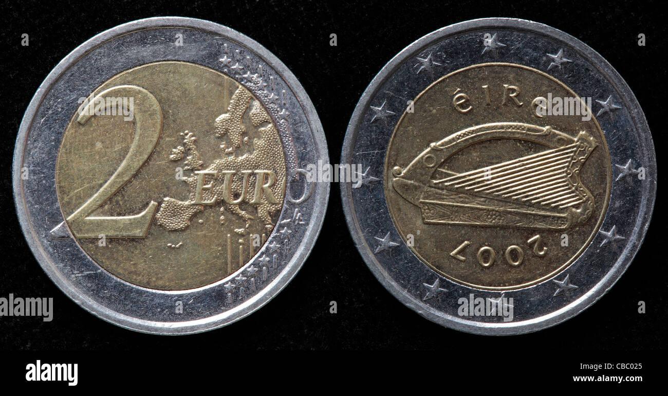 2 Euro Münze Irland 2007 Stockfoto Bild 41445437 Alamy