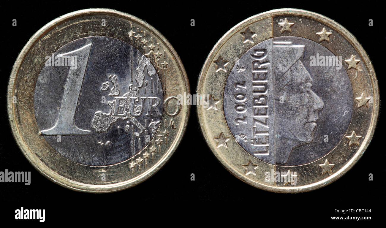 1 Euromünze Luxemburg 2002 Stockfoto Bild 41446276 Alamy