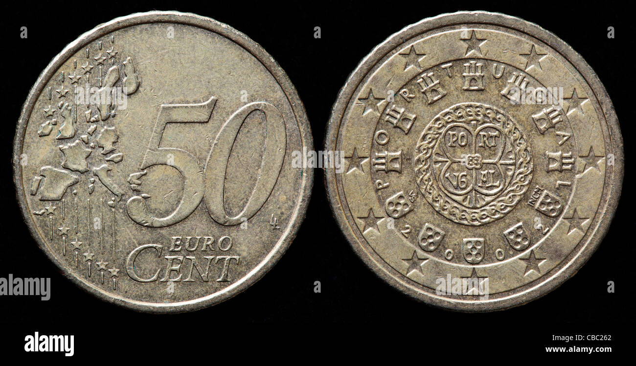 50 Euro Cent Münze Portugal 2002 Stockfoto Bild 41447114 Alamy