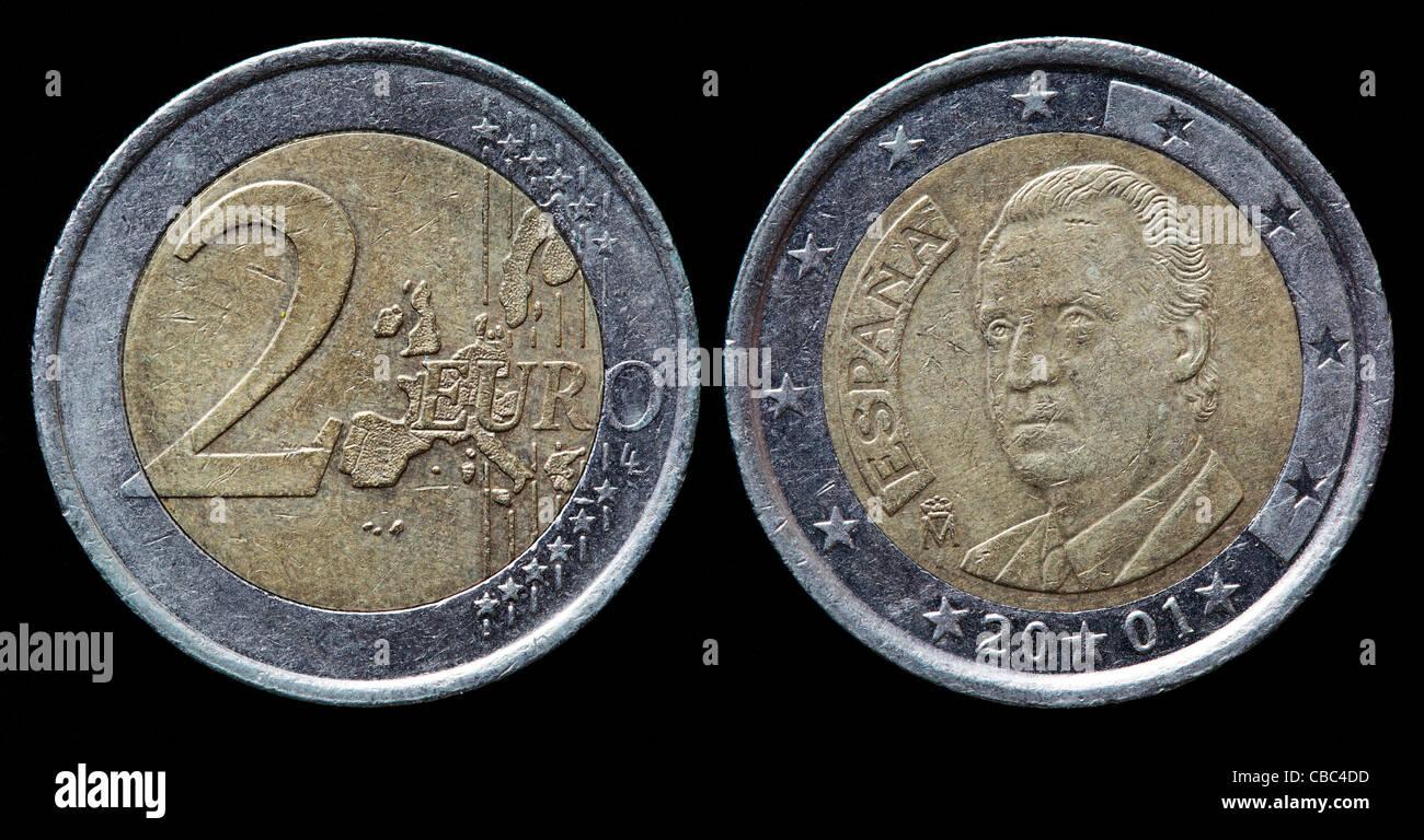 2 Euro Münze Spanien 2001 Stockfoto Bild 41448889 Alamy