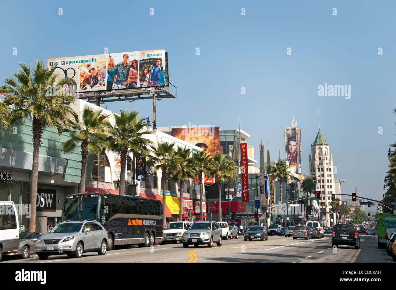 Hollywood Boulevard Kalifornien Vereinigte Staaten von Amerika Amerikaner / USA Stadt Stockbild