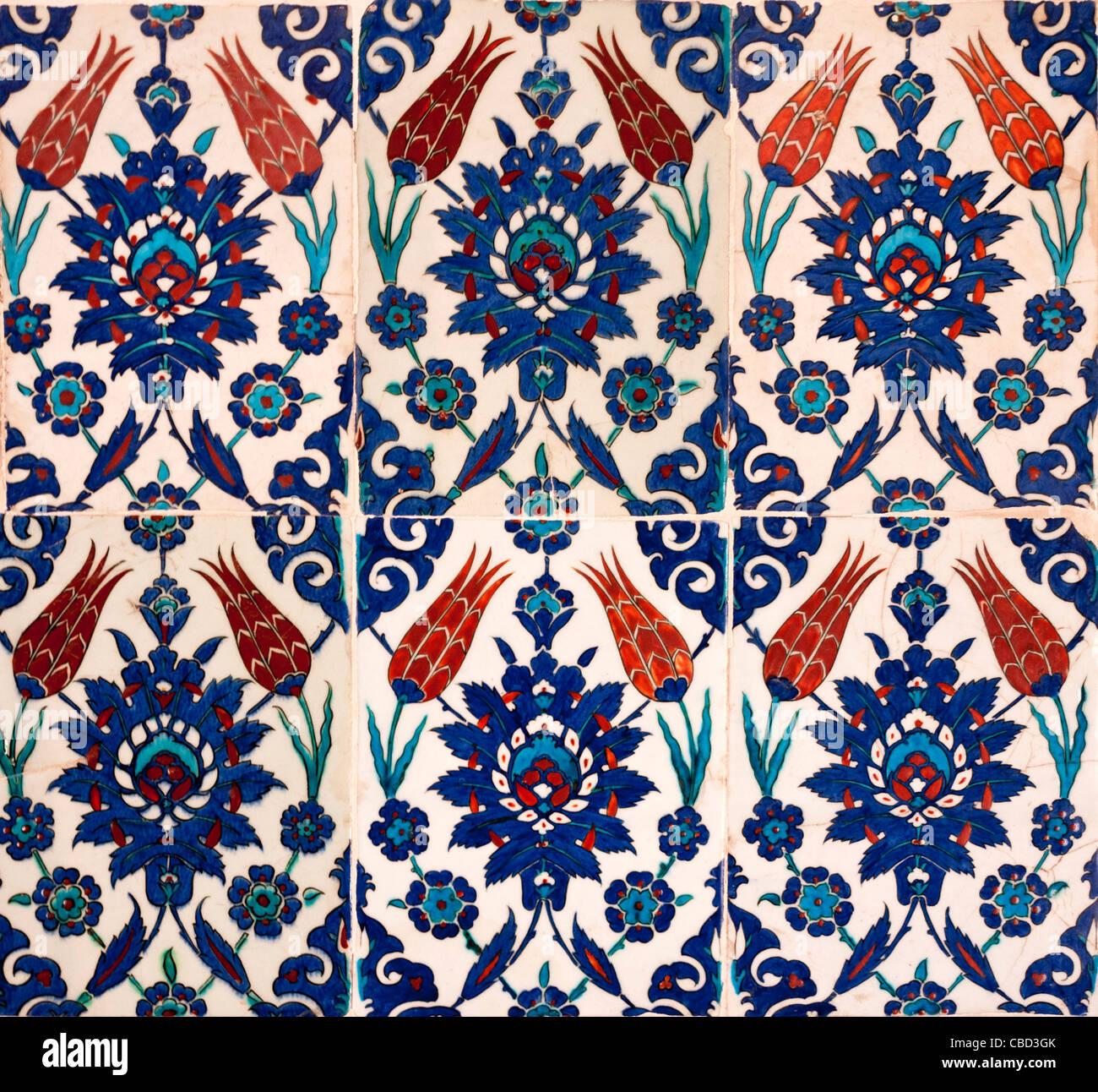 Iznik Fliesen Mit Tulpe Design Rustem Pasa Moschee Eminonu
