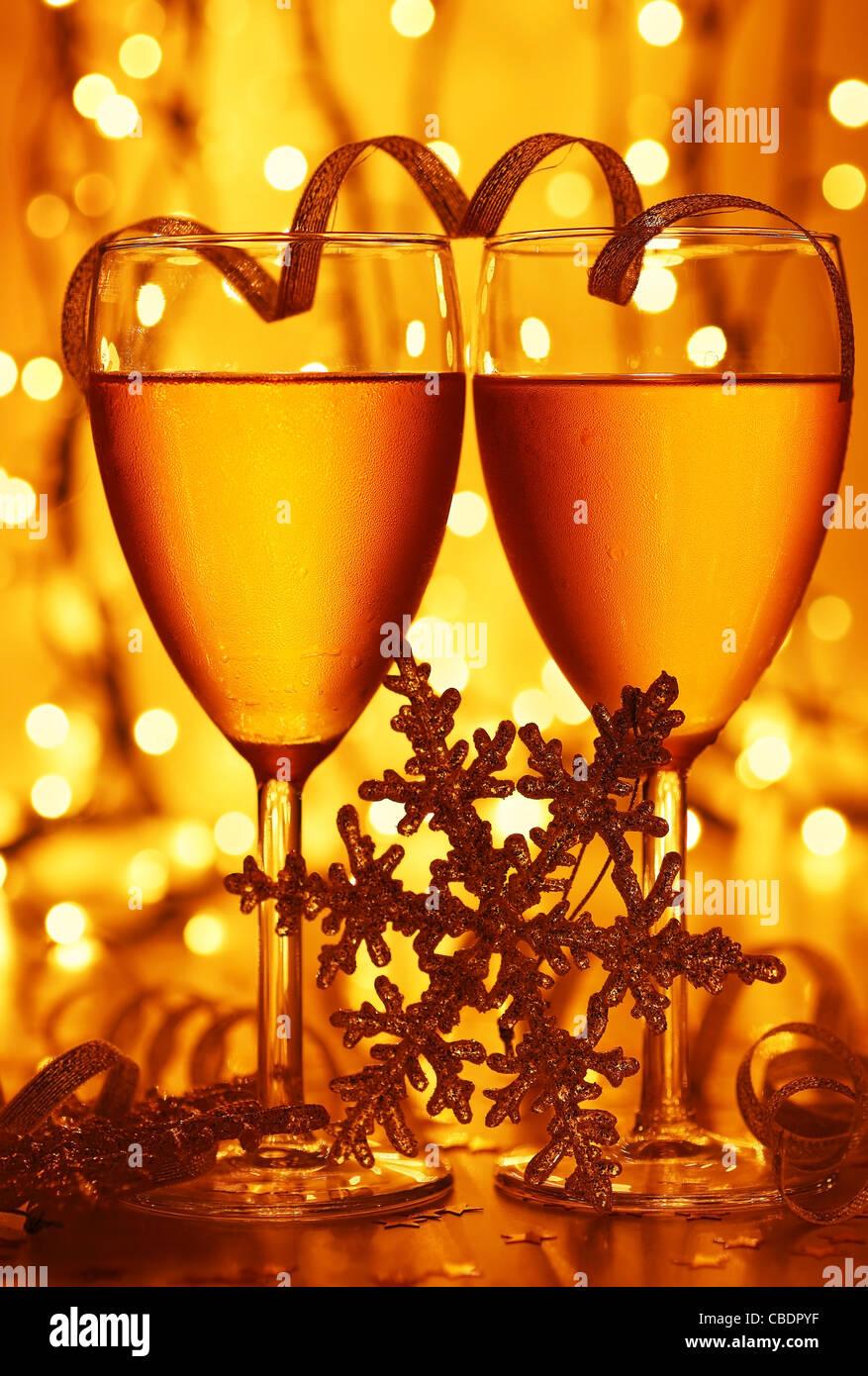 Romantikurlaub Getränk, Feier von Weihnachten oder Silvester, party ...