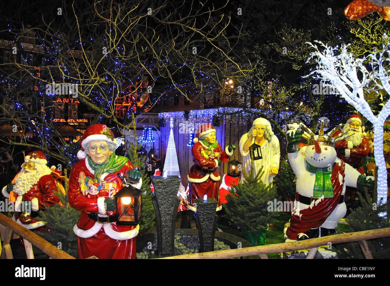 Crystal LED Dekorationen zu Weihnachten Markt, Rembrandtplein ...