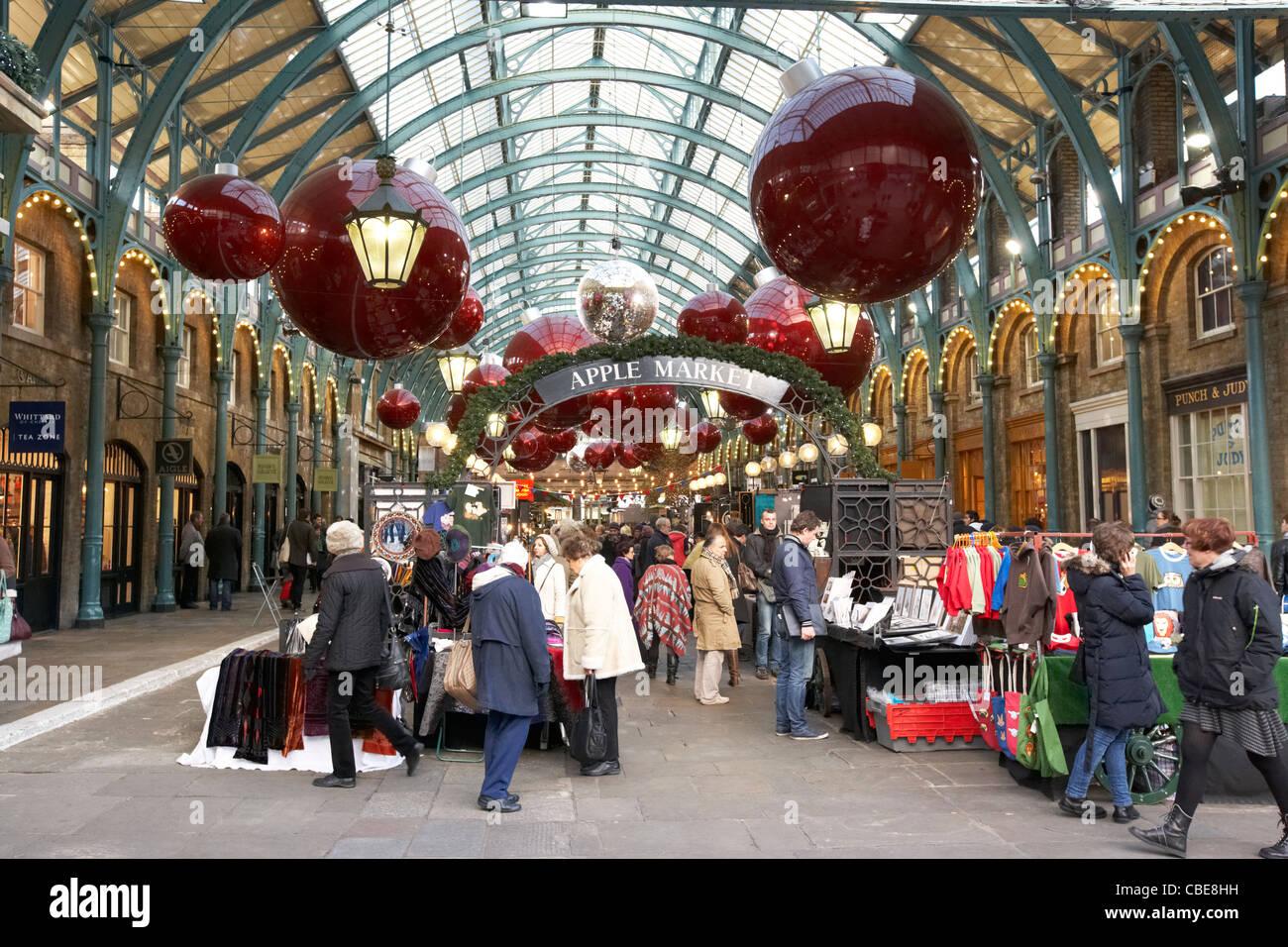 die apple markt covent garden weihnachts shopping london england vereinigtes konigreich grossbritannien