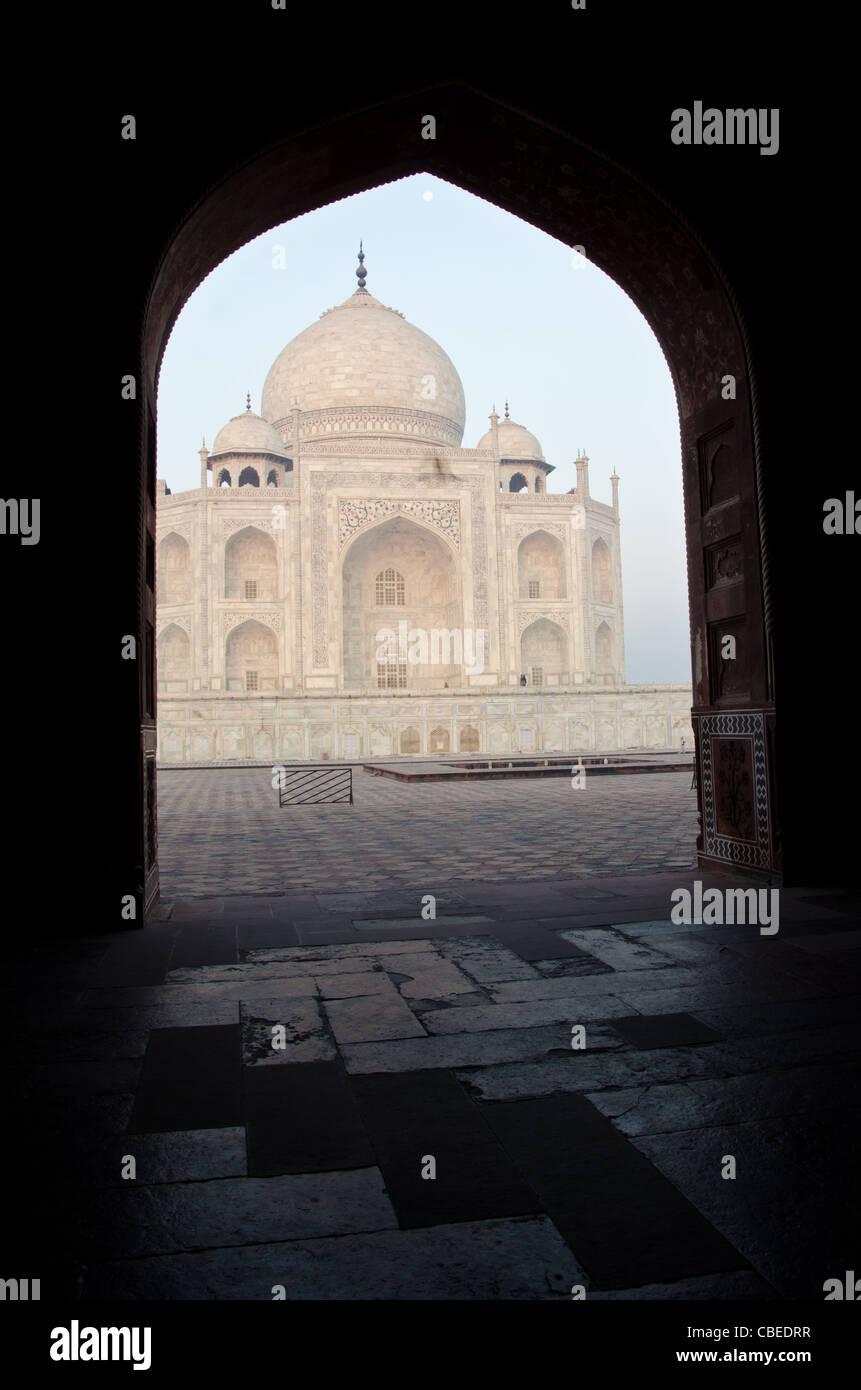 Taj Mahal, Agra(U.P), Indien. Taj Mahal wurde auf Befehl des Mughal Kaisers Saha Jahan als Mausoleum für seine Stockbild