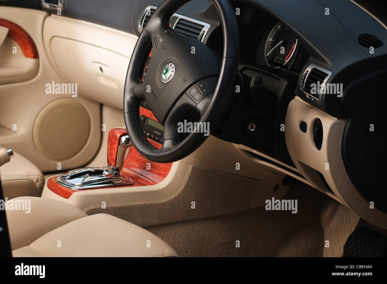 Das Innere von Skoda Auto Stockfoto, Bild: 41502892 - Alamy