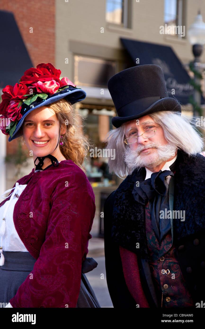 Scrooge und junge Frau - Charles Dickens Zeichen beim \'Dickens ...