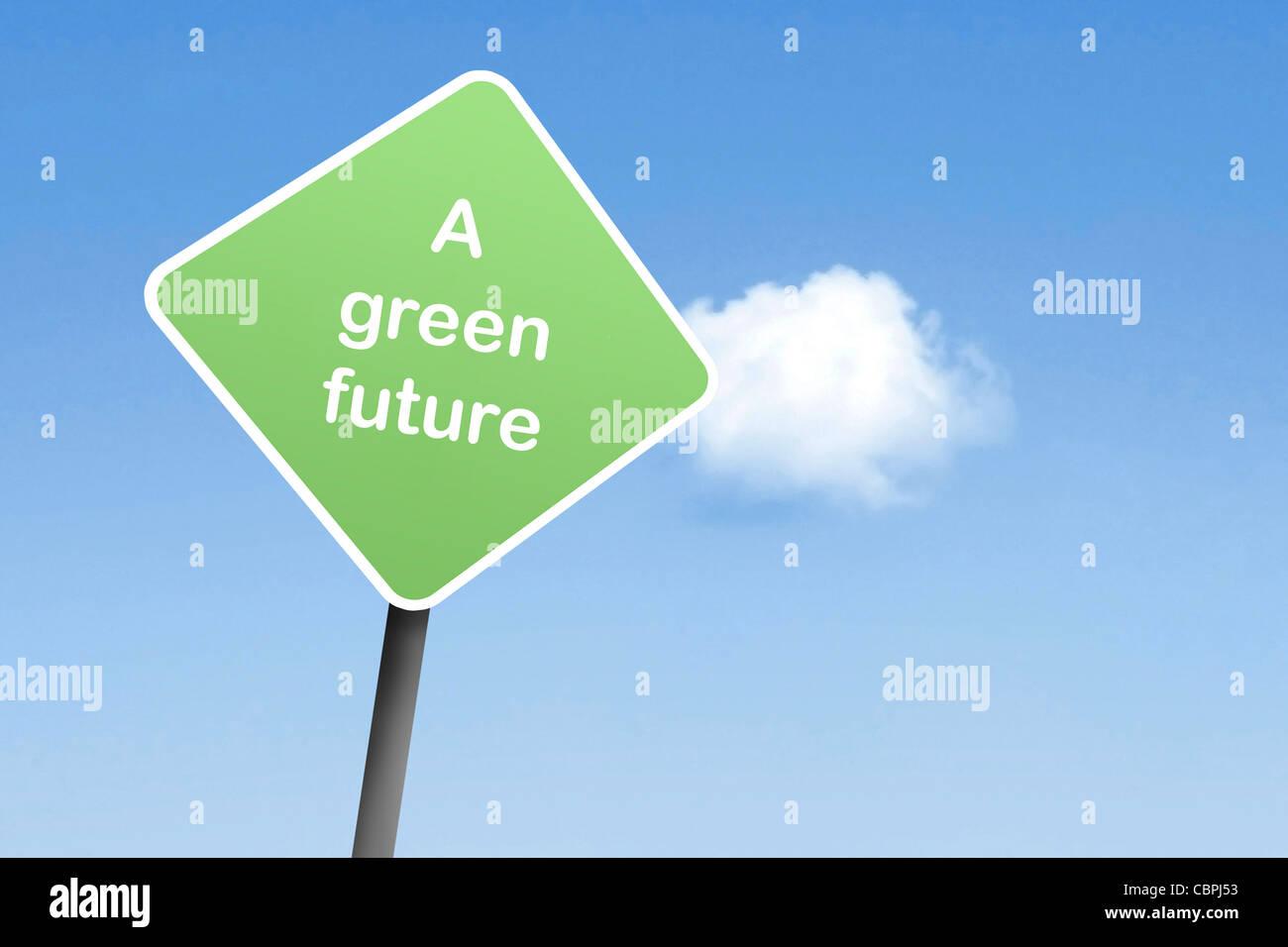 Eine grünere Zukunft Stockbild