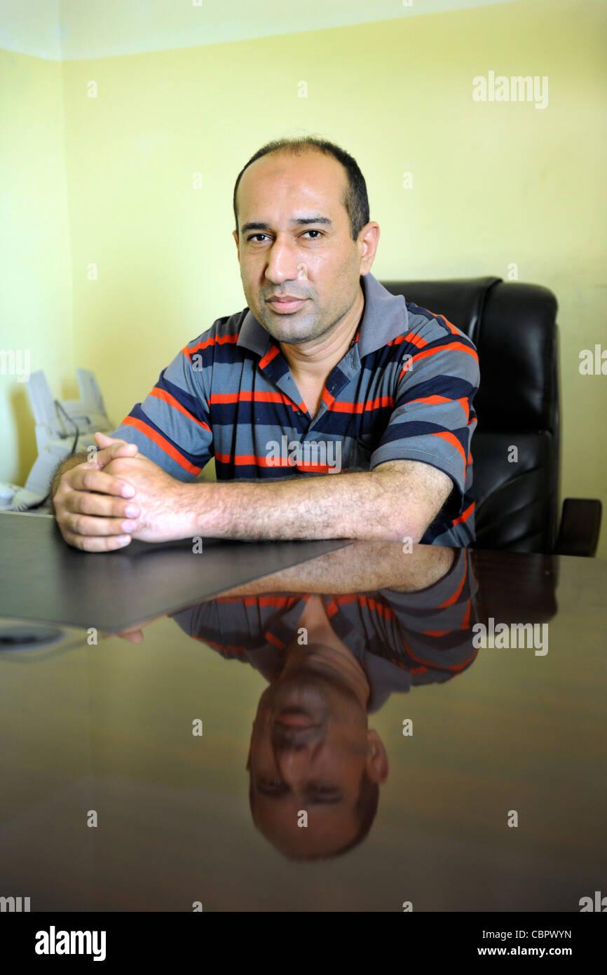Bagdad Dr. MSF Irak Moktada Al Sadr Sadr City läuft eine Beratung in einem psychiatrischen Krankenhaus in Bagdad Stockbild