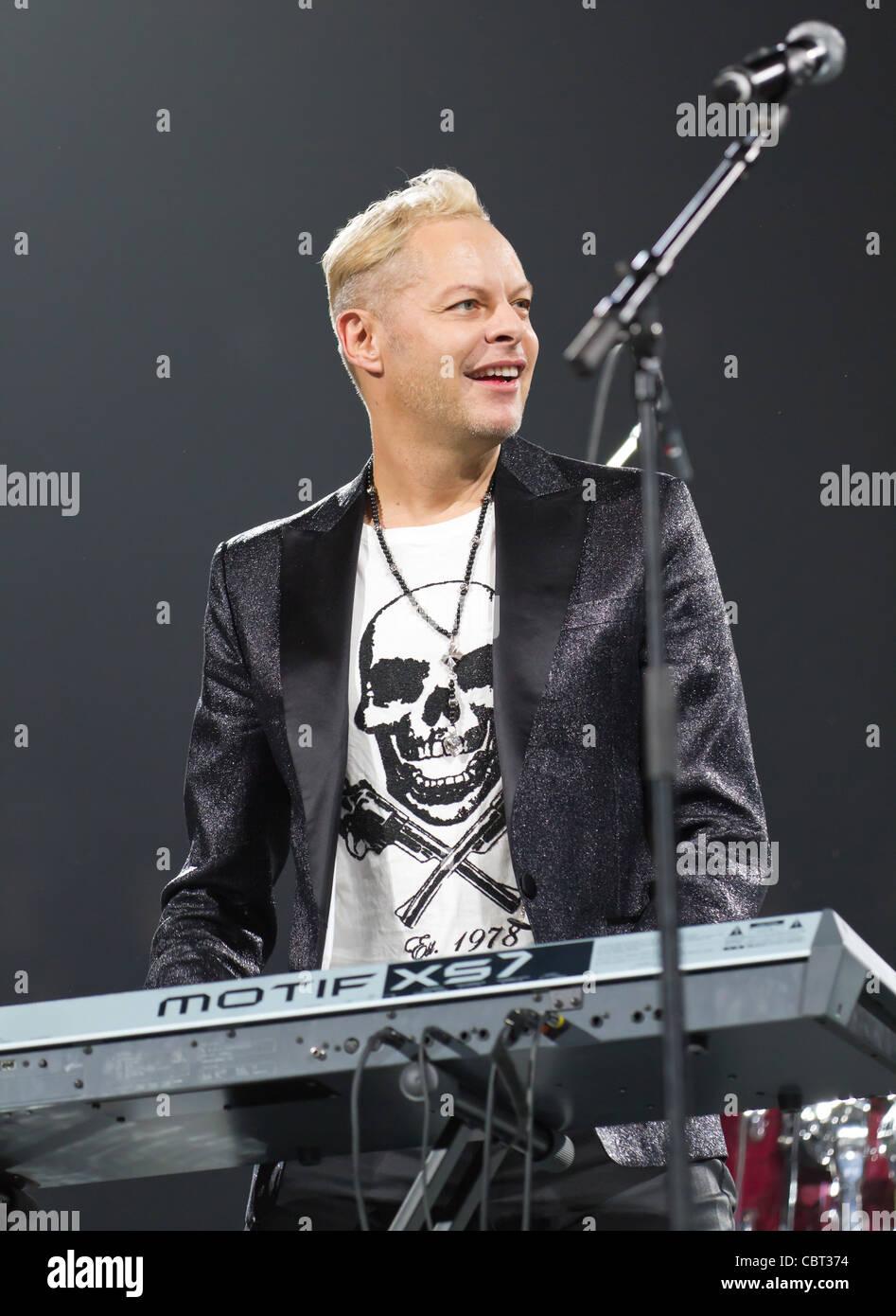 Songwriter und Produzent Uwe Fahrenkrog-Petersen führt bei Sixday-Nights Zürich 2011 Stockbild