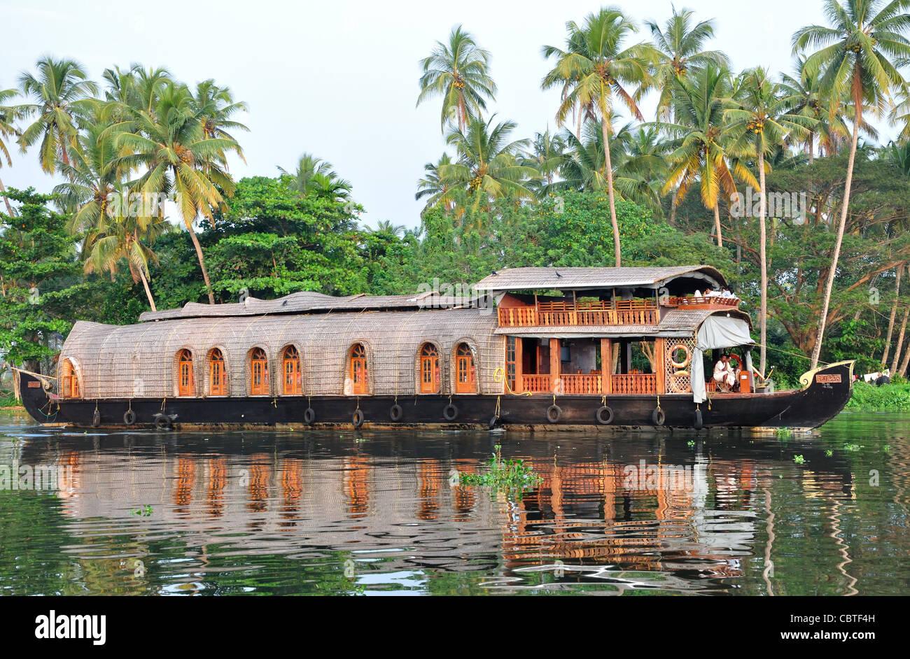 Wasserlandschaft in Kerala, Indien, Stockbild