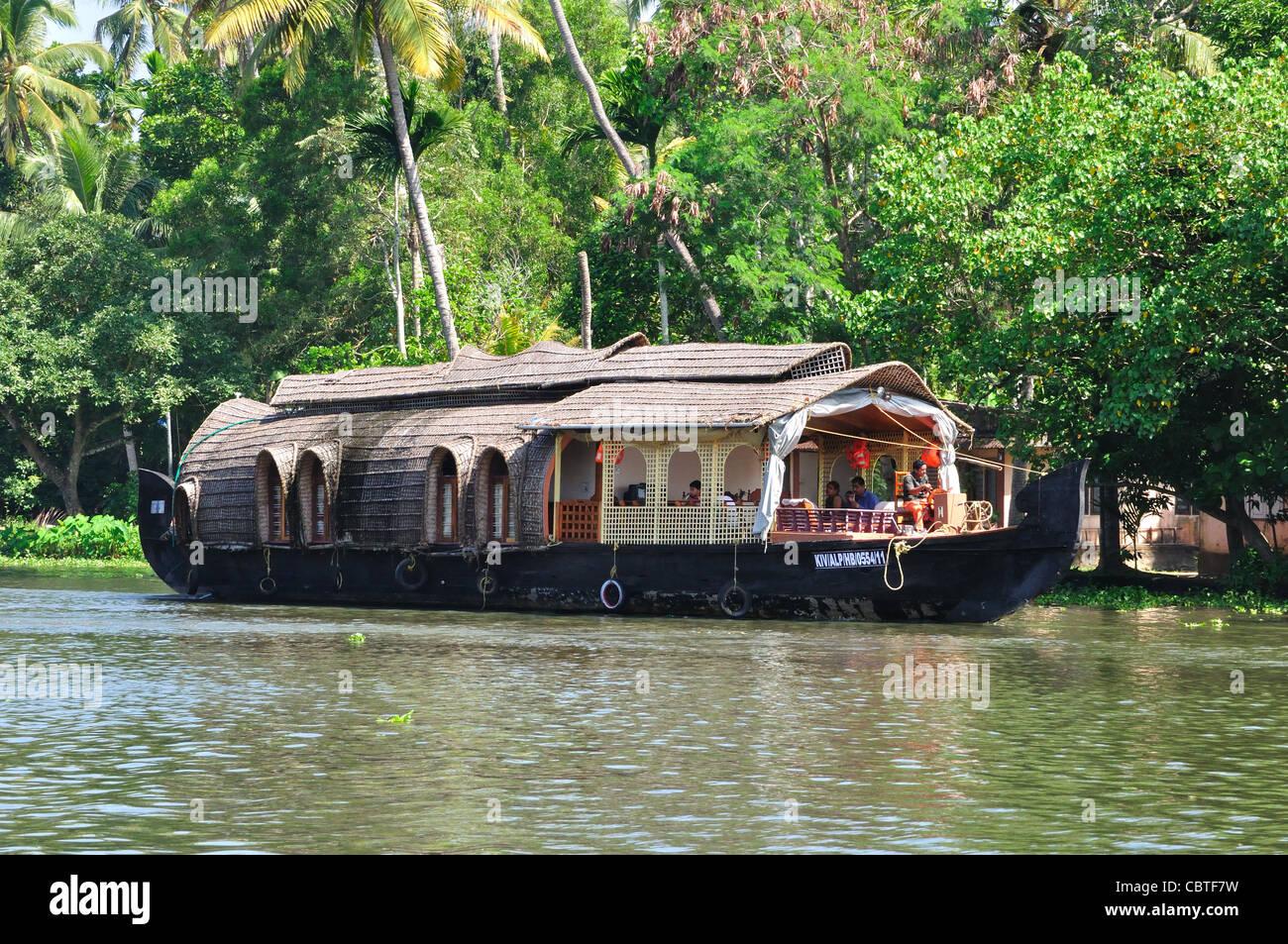 Wasserlandschaft in Kerala, Indien... Stockbild