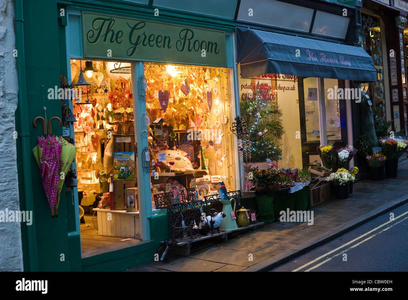 Weihnachts-Fenster anzeigen im Green Room Geschenkladen Hay-on-Wye ...