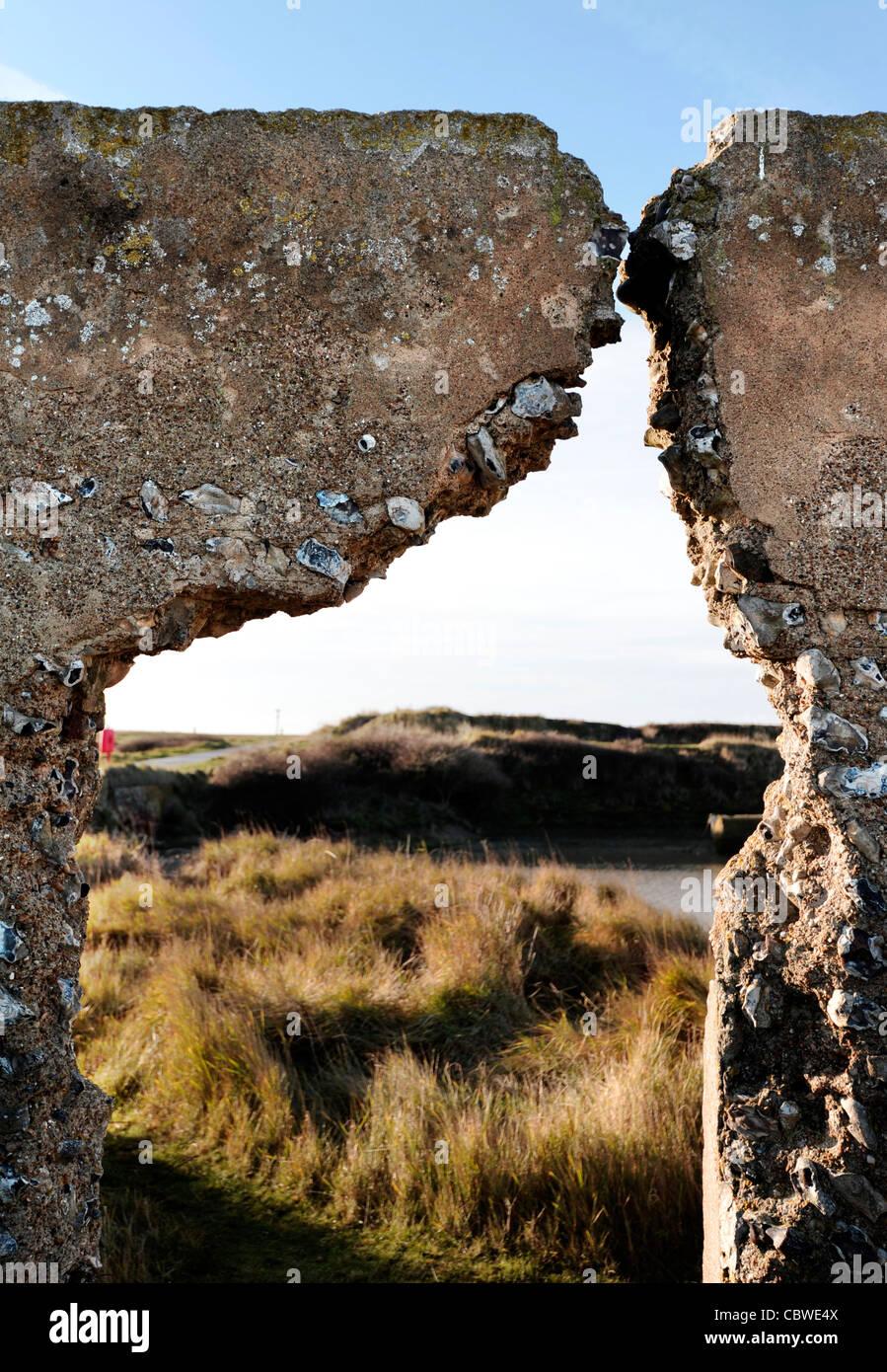 Verlorene Dorf Tidemills, Seaford. East Sussex Stockbild