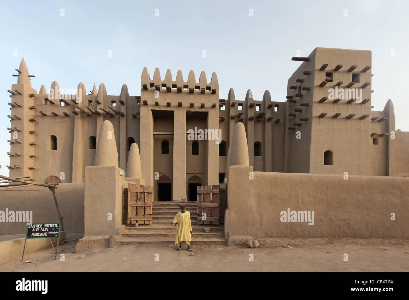 Große Moschee von Djenné, Mali, Afrika Stockbild