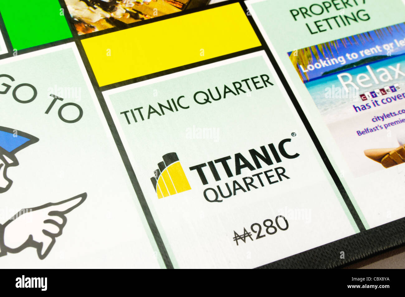 Belfast-Monopol: Titanic Viertel Stockbild
