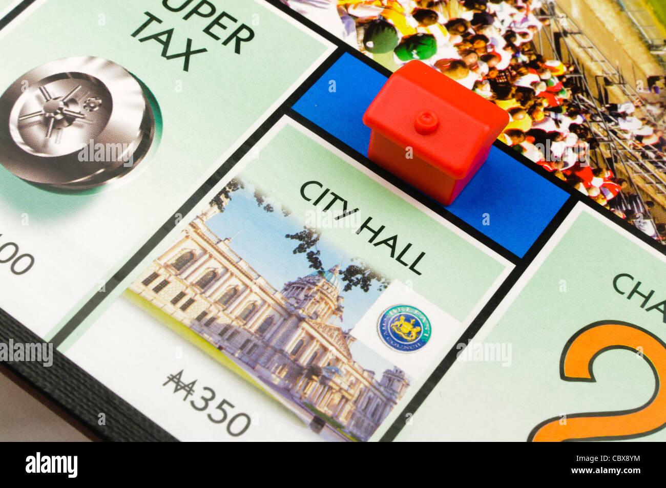 Belfast-Monopol: Bau eines Hotels im Rathaus Stockbild