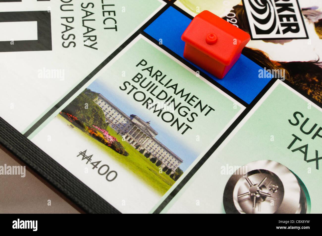 Belfast-Monopol: Bau eines Hotels am Parlamentsgebäude Stockbild