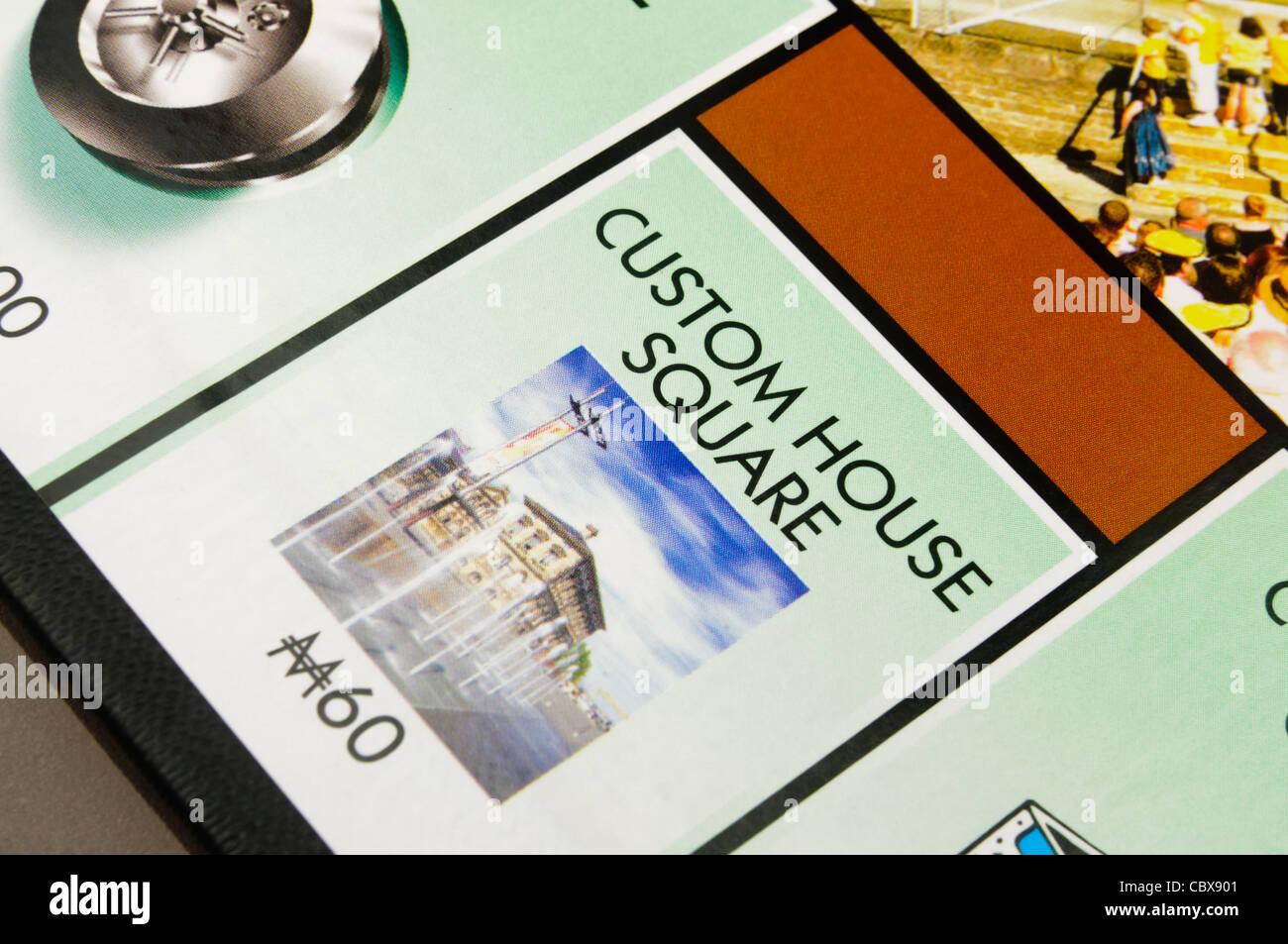 Belfast-Monopol: Custom House Square Stockbild