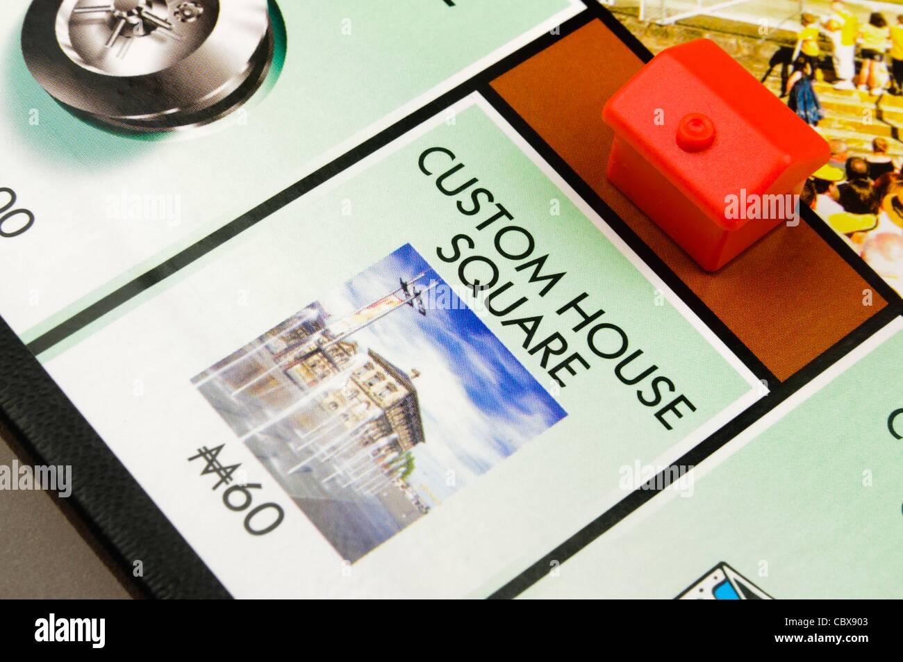 Belfast-Monopol: Bau eines Hotels auf Custom House Square Stockbild