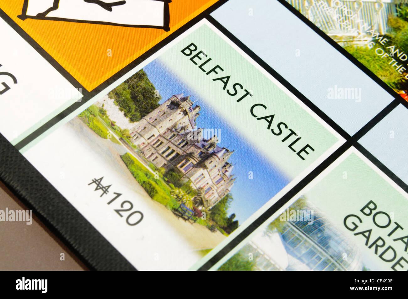 Belfast-Monopol: Belfast Castle Stockbild