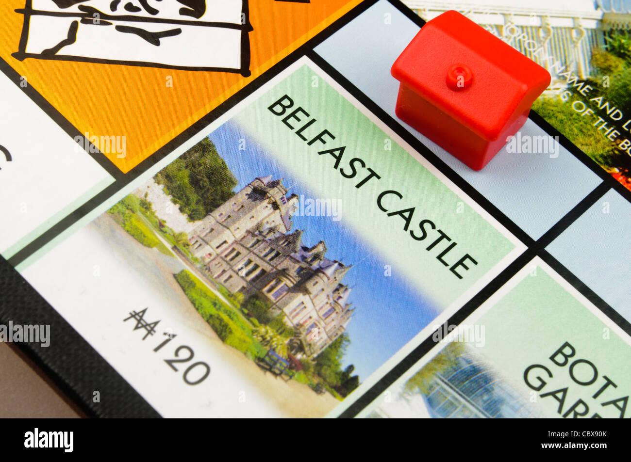 Belfast-Monopol: Bau eines Hotels auf Belfast Castle Stockbild