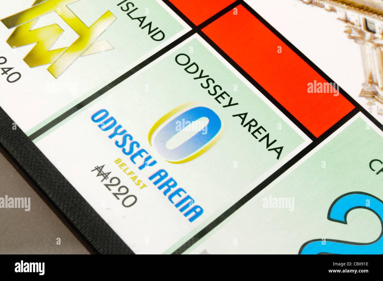 Belfast-Monopol: Odyssey Arena Stockbild