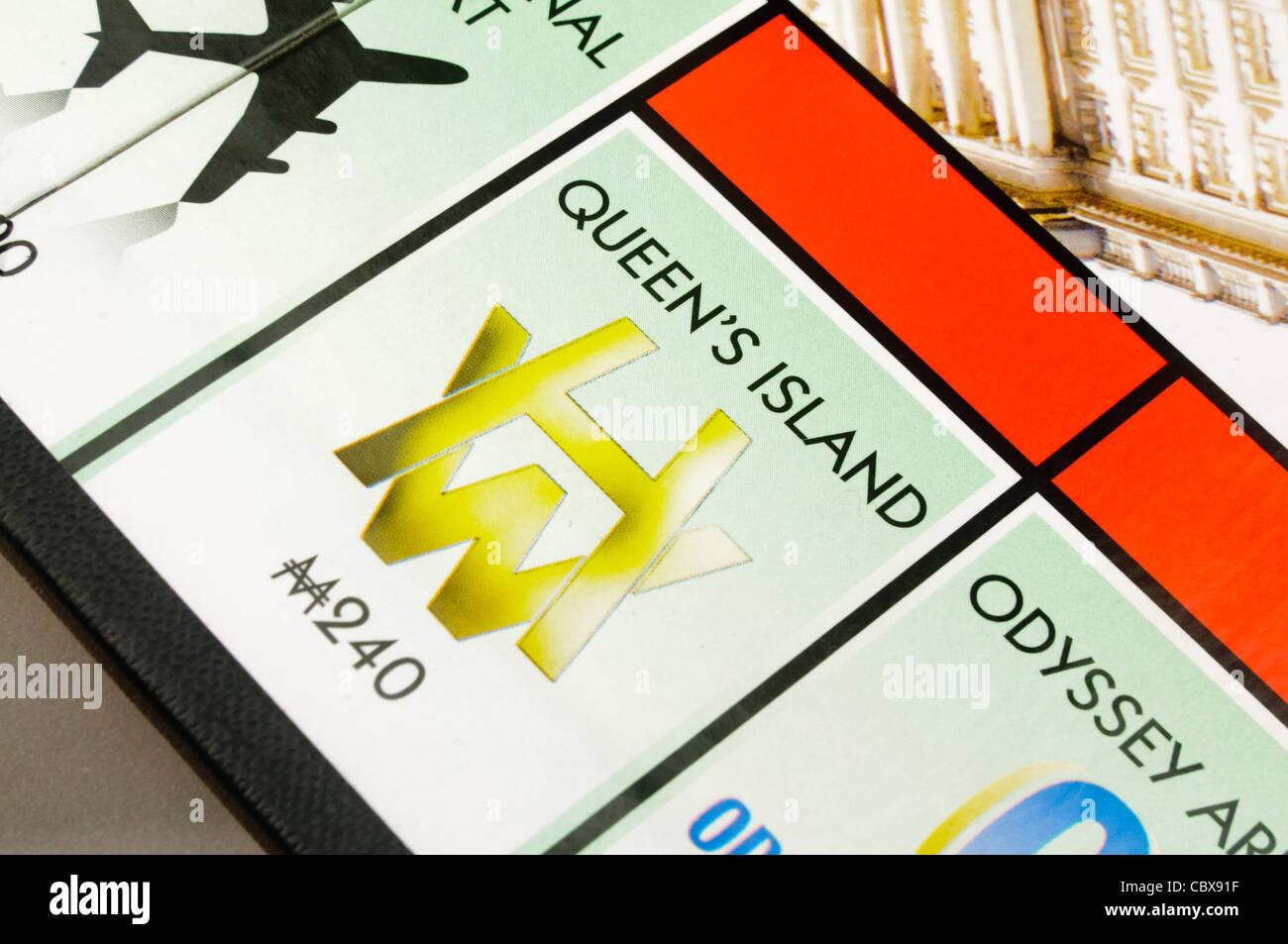 Belfast-Monopol: Königin der Insel Stockbild