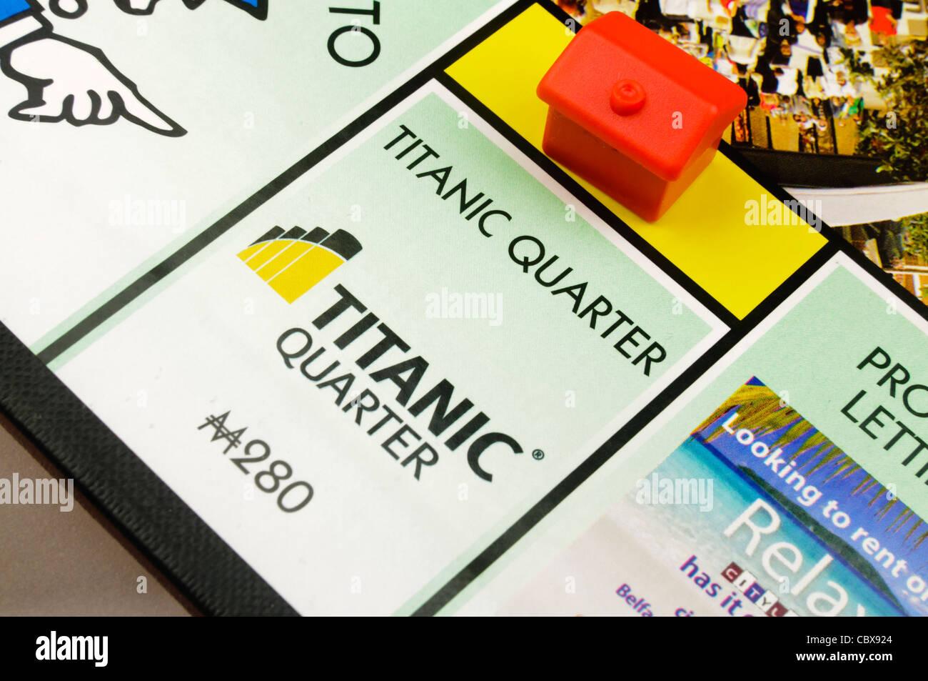 Belfast-Monopol: Bau eines Hotels auf Titanic Quarter Stockbild
