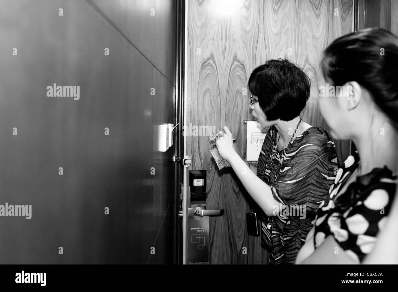 Die Hochzeit von Li Ang und Guo Lina Stockbild