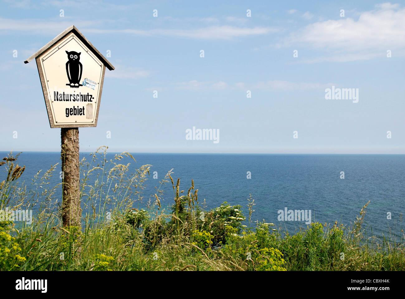 Kap Arkona-Naturschutzgebiet auf der Insel Rügen. Stockbild