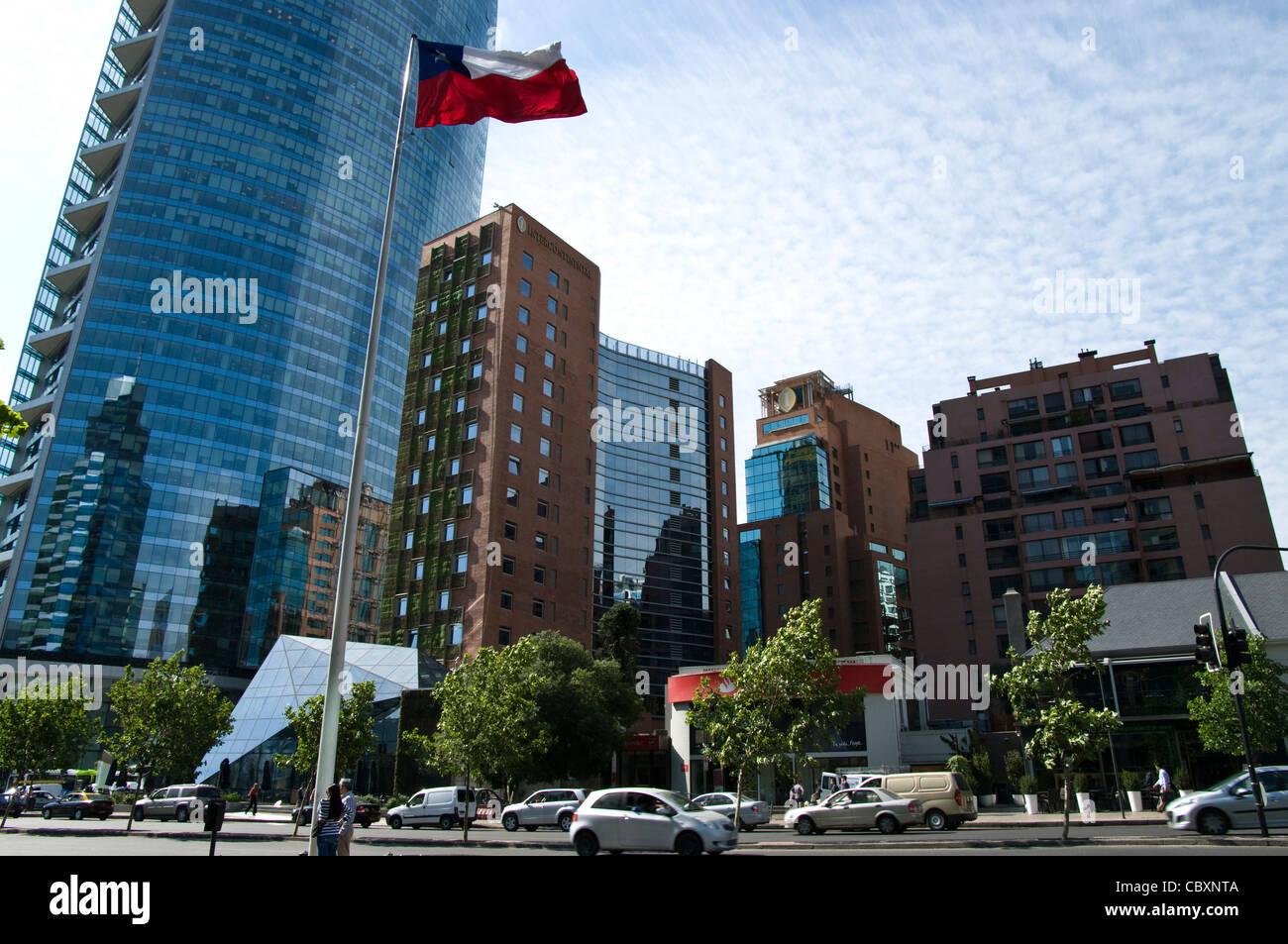 Santiago de Chile-Stadt. Bezirk von Las Condes. Zeitgenössische ...