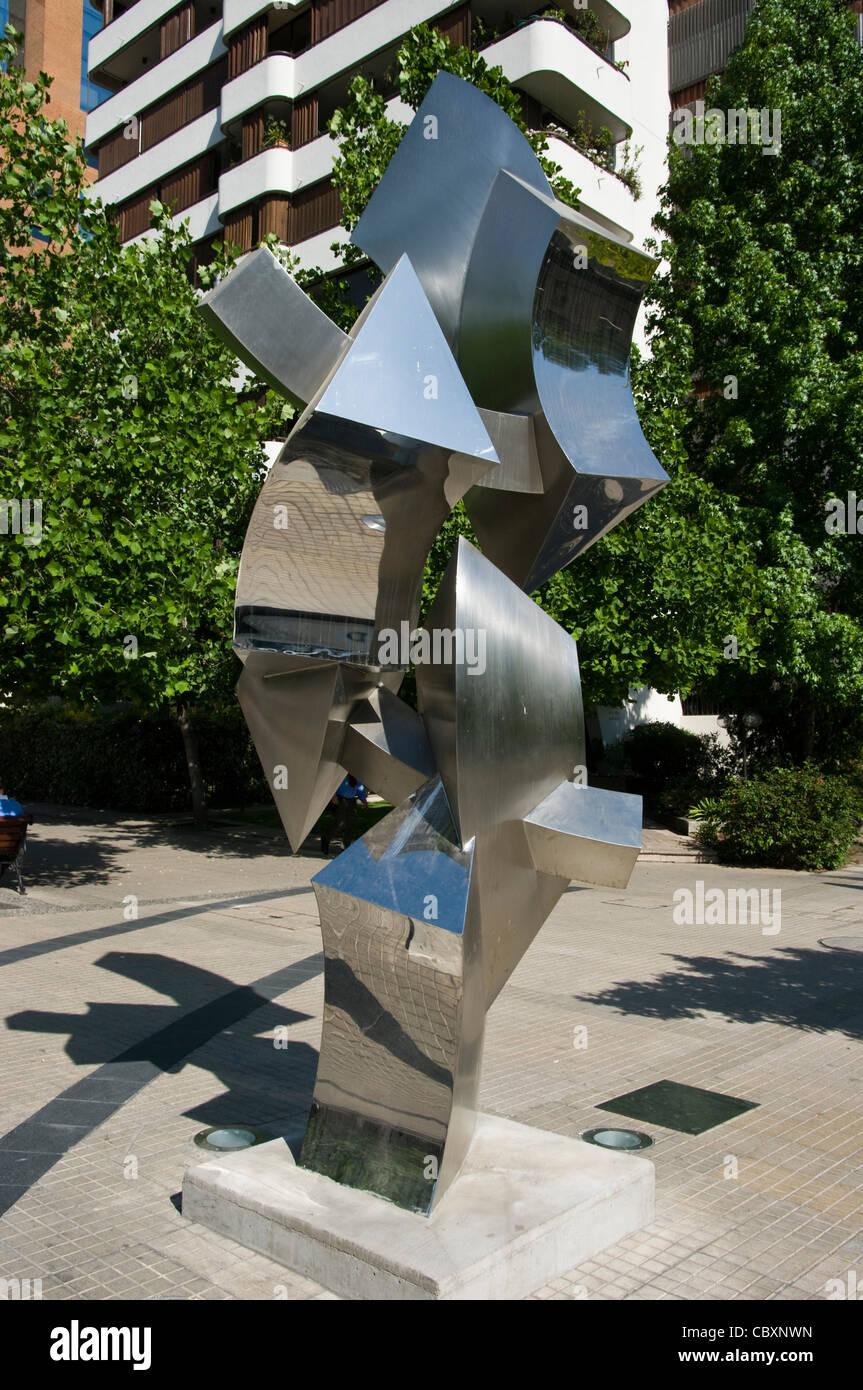 Santiago de Chile-Stadt. Bezirk von Las Condes. Zeitgenössische Architektur. Stockbild
