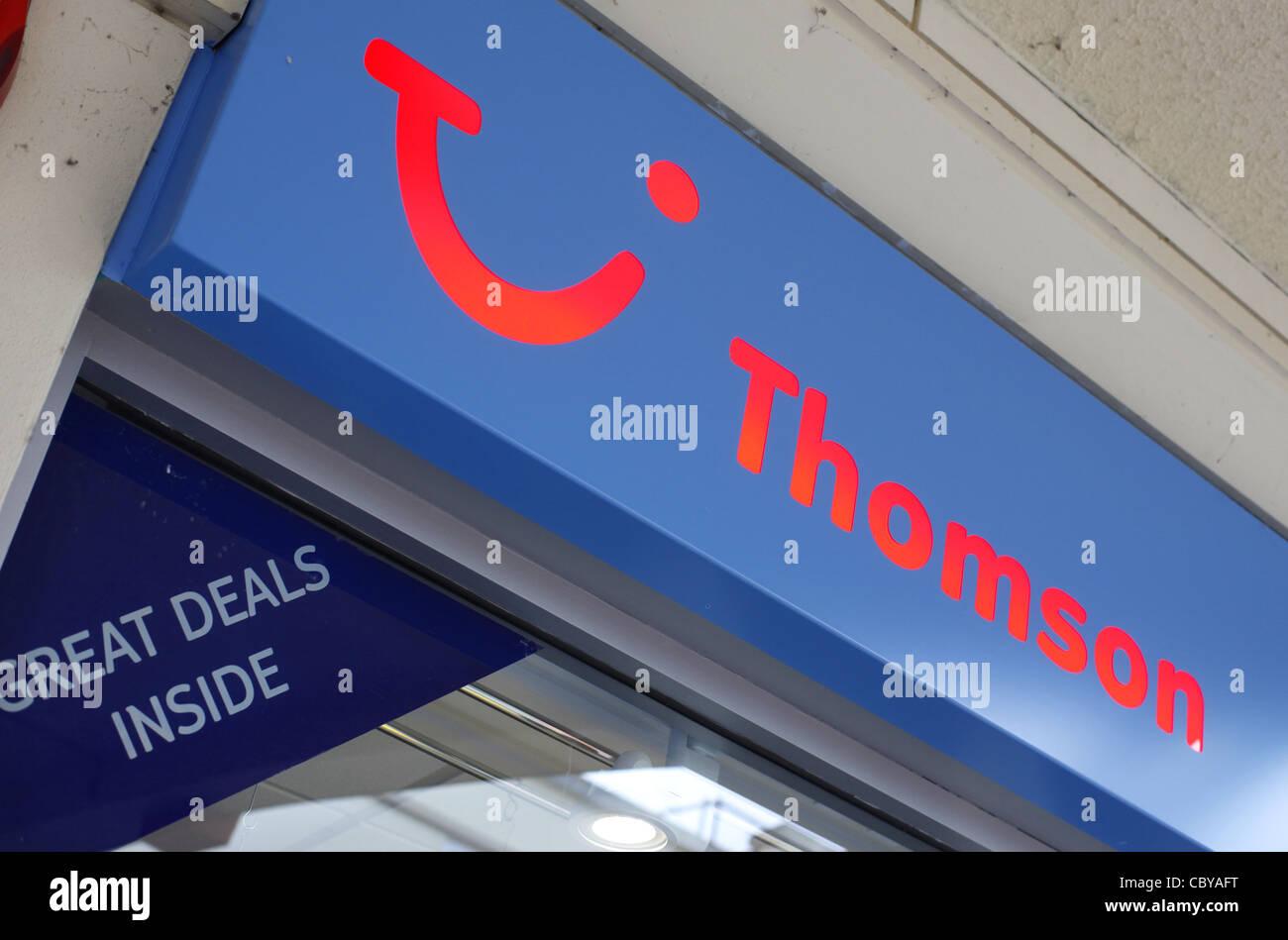 Thomson Travel Zeichen Stockbild
