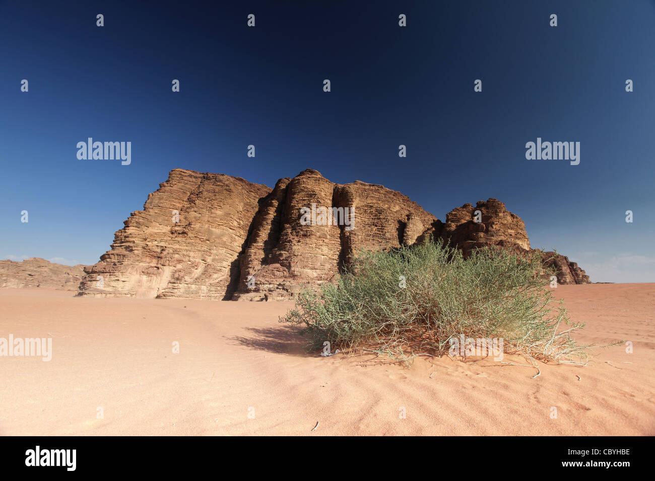 Wüste von Jordanien, Wadi rum Stockbild