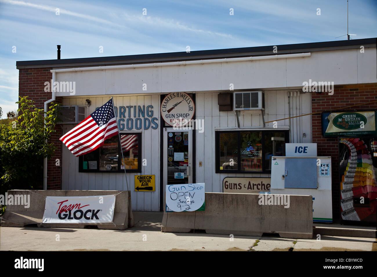 Gun-Shop in Bennington, Vermont USA © Myrleen Pearson Stockbild