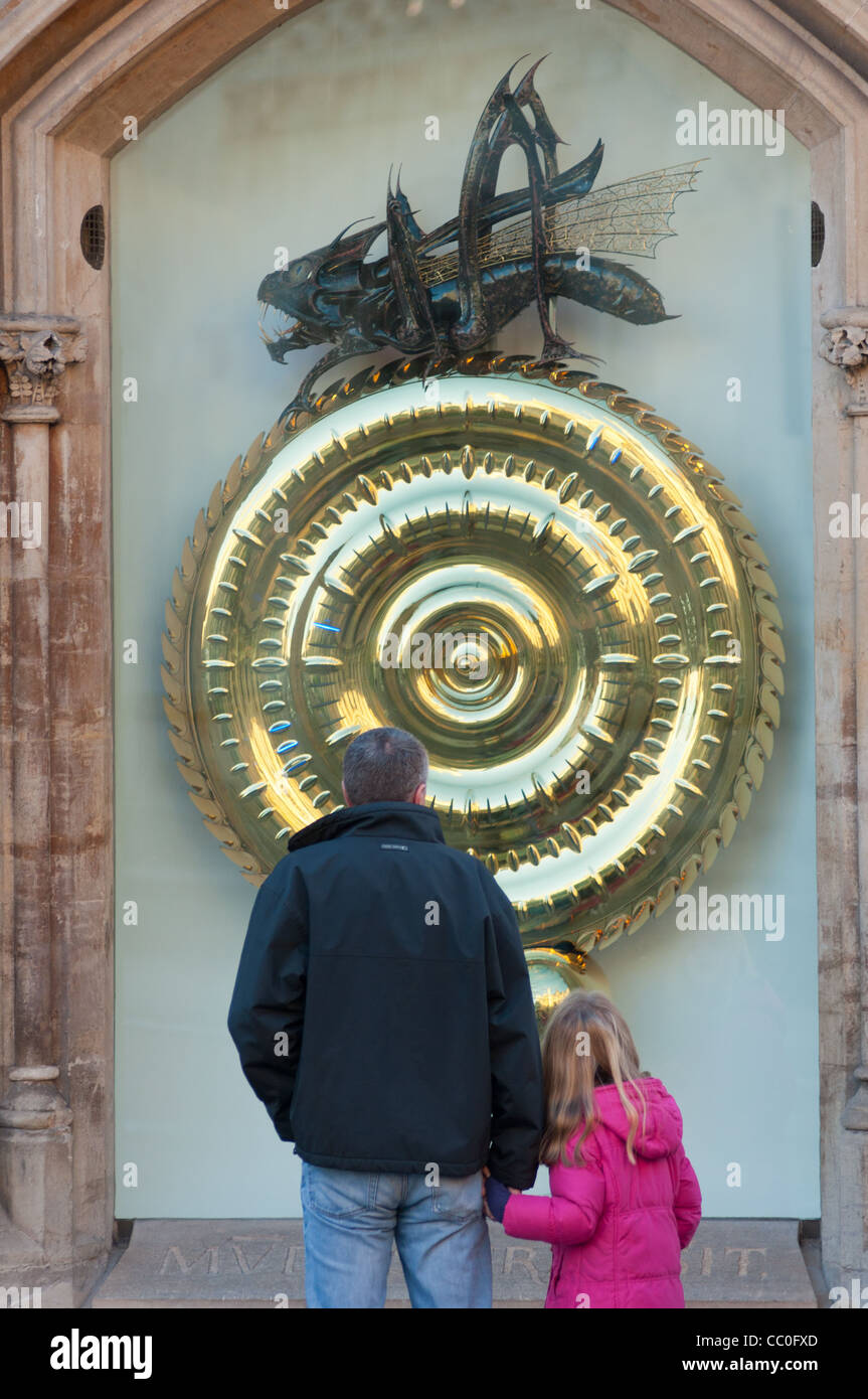 Heuschrecke oder Fronleichnam Clock, Kings Parade, Cambridge UK Stockbild