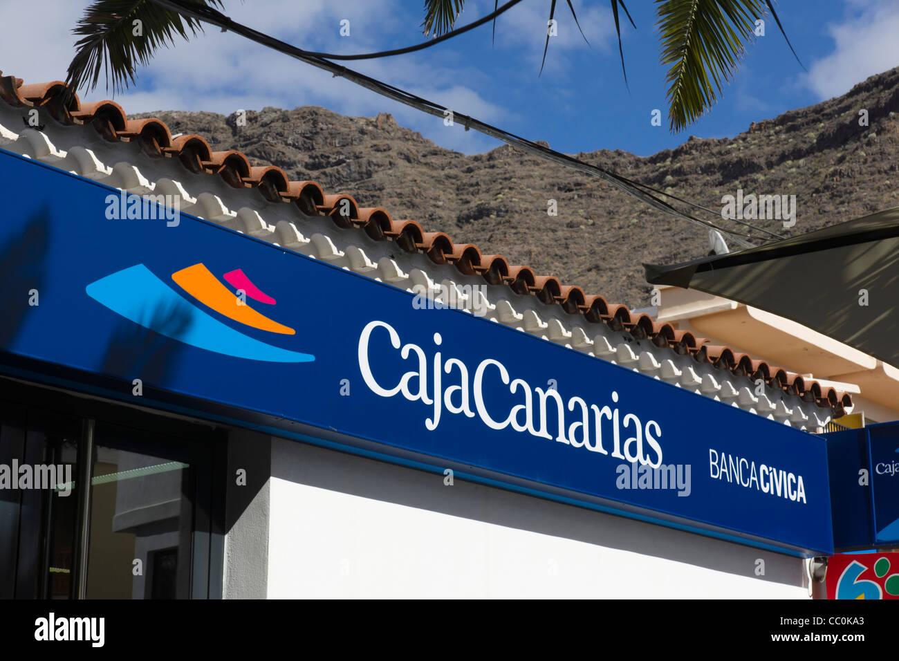 Caja Canarias, Kanarische Inseln Privatkundengeschäft der spanischen BancaCivica Stockbild