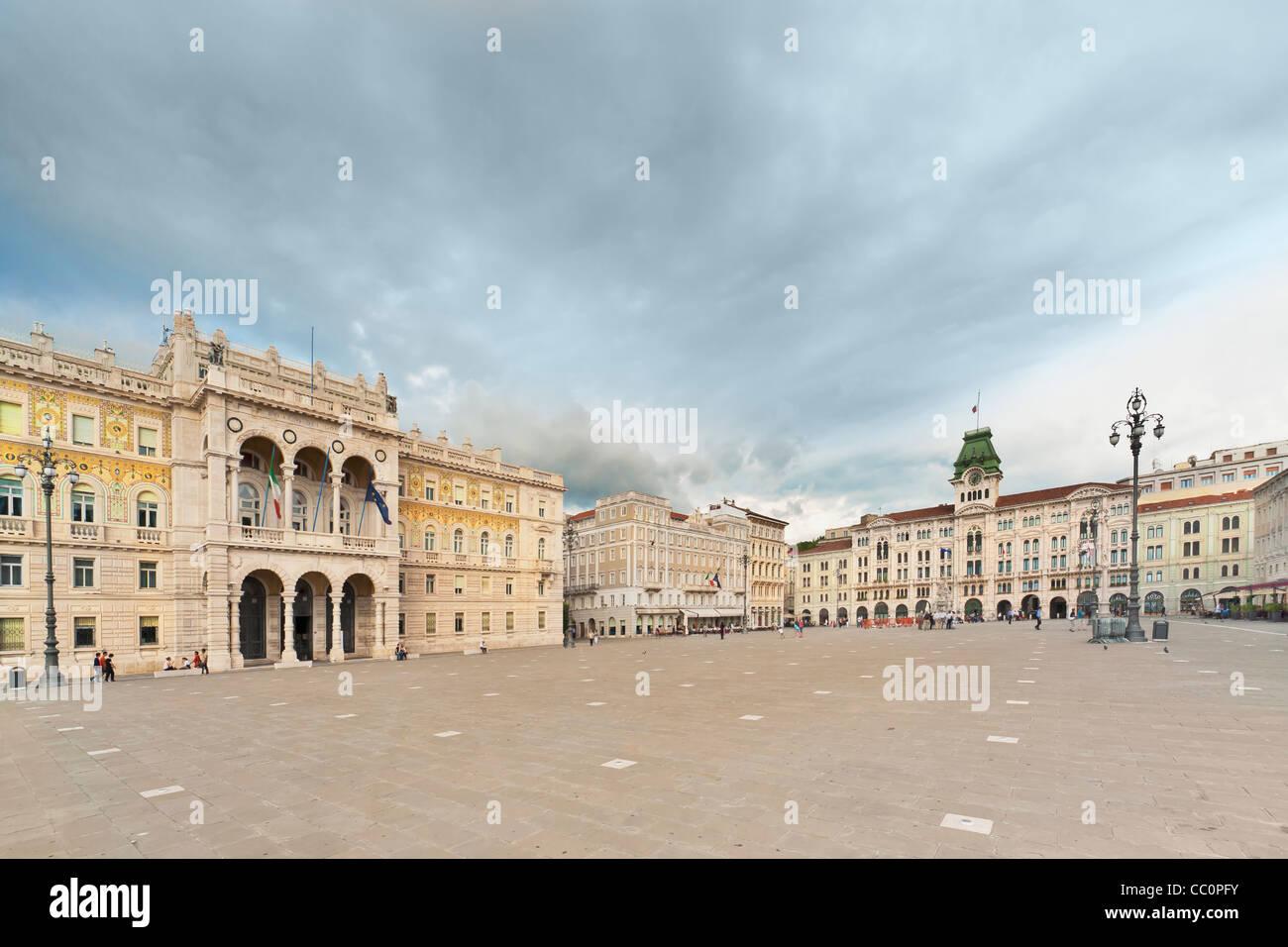 Piazza Unita d ' Italia (von Italien Platz der Einheit). Es ist der Hauptplatz, Triest, Friaul-Julisch Venetien, Stockbild