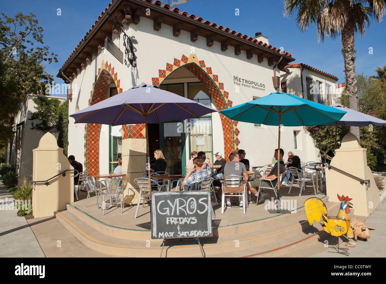 Terrasse Metropulos Fine Food Händler Funk Zone Santa Barbara