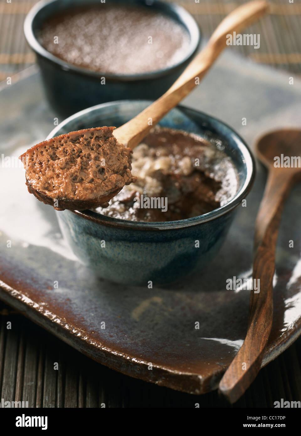 Mousse au Chocolat Stockbild